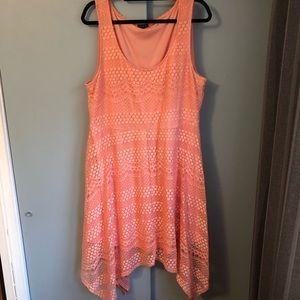 Torrid: Salmon Lace Dress